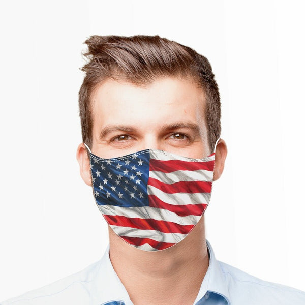 American Flag Reusable Cloth Adult Face Mask