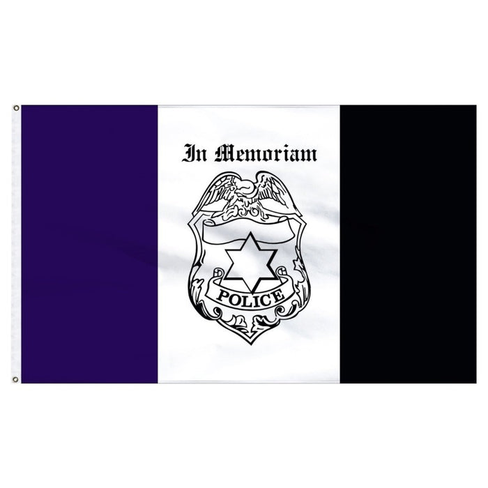 3X5' Police Mourning Flag