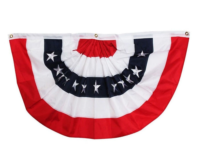 2'x4' POLYESTER BUNTING WITH STARS (BWL)