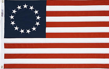 Betsy Ross Embroidered Nylon Flag