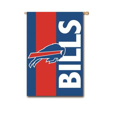 "28""X44"" BUFFALO BILLS APPLIQUE BANNER"