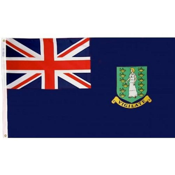 British Virgin Islands (Blue) Nylon Flag