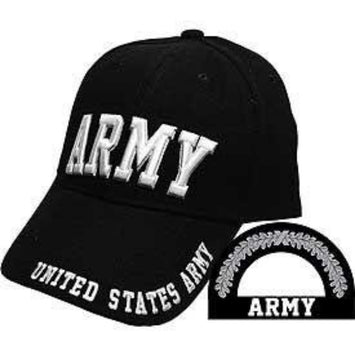 black army hat with the words