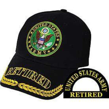 army retired military baseball cap hat