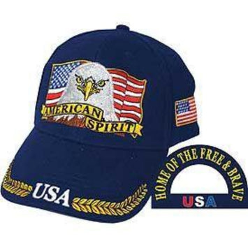 hat with eagle and american flag