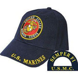 black hat with the marine corps logo in the center