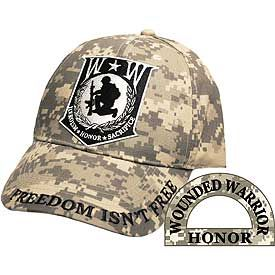 WOUNDED WARRIOR CAMO CAP