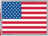 CLASSIC AMERICAN FLAG DESIGN WITH A HOLOGRAPHIC BORDER