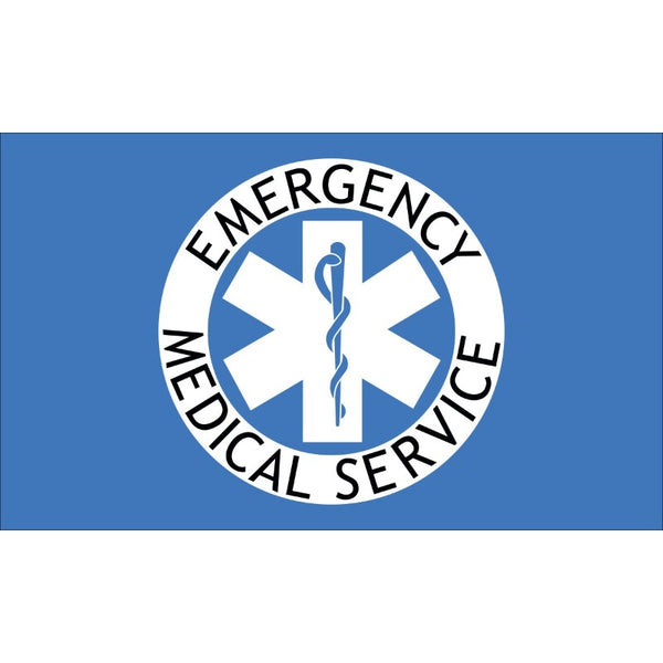 3'x5' Emergency Medical Services Nylon Flag