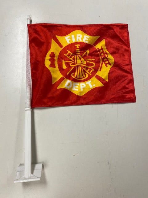 Fire Department Car Flag