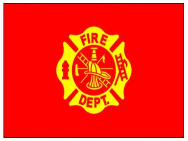 3x5 FT FIRE DEPARTMENT FLAG