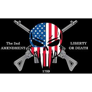2nd amendment liberty or death sniper flag