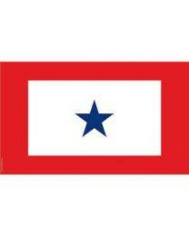 3x5 ft 1-Star Service Flag