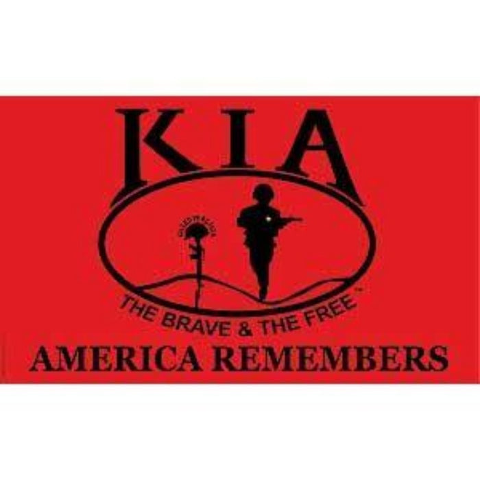 3x5 FT KILLED IN ACTION (KIA) HONOR POLY-KNIT FLAG