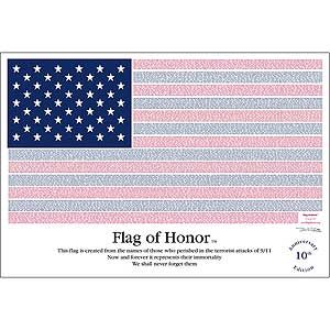 3X5 FT POLYESTER FLAG OF HONOR - 9/11 MEMORIAL EDITION