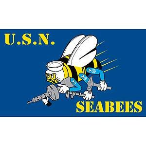 NAVY SEABEES POLYESTER FLAGS