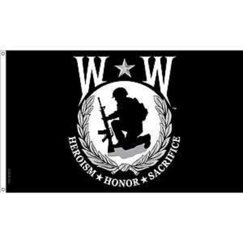 3X5 FT NYLON WOUNDED WARRIOR FLAG