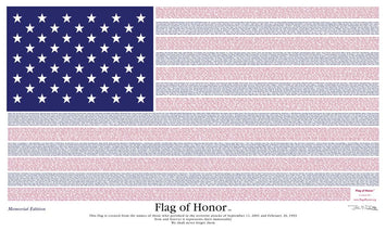 3'x5' Nylon 9/11 Flag of Honor (Memorial Edition)