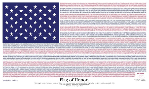 3'x5' Flag of Honor Nylon (Memorial Edition)