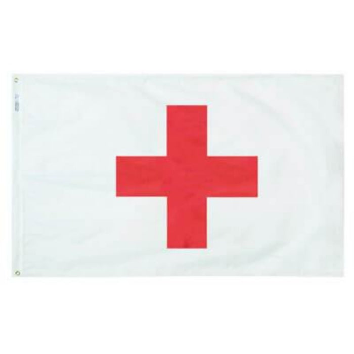 white background flag with a red cross in the center
