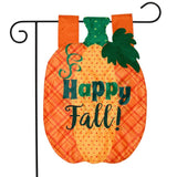 FALL PUMPKIN APPLIQUE GARDEN FLAG