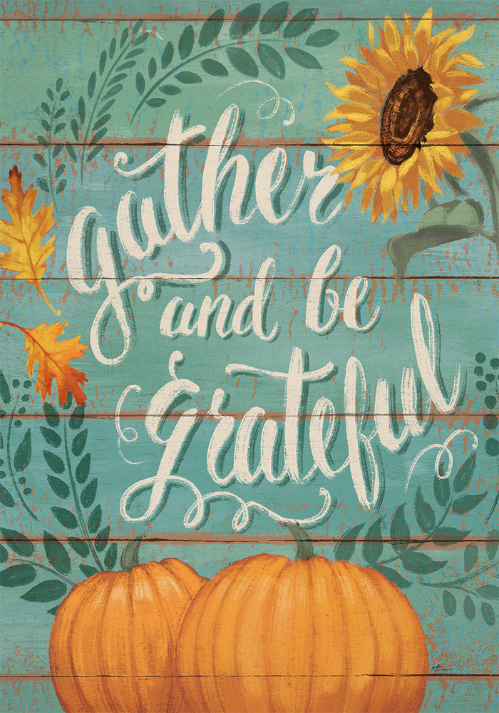GATHER AND BE GRATEFUL BANNER