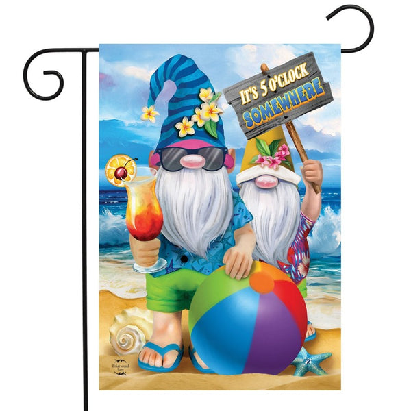 Summer Gnomes Garden Flag