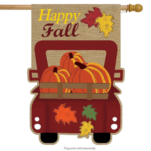 Happy Fall Autumn banner Flag