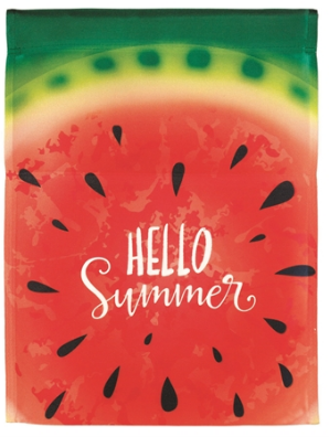Hello Summer Watermelon Banner Flag