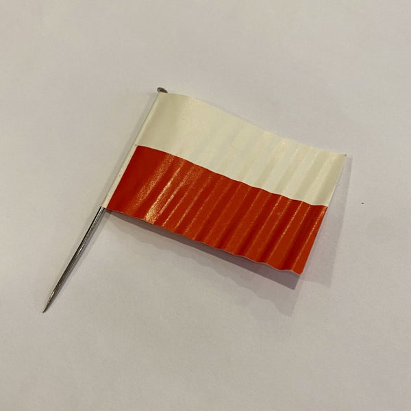 poland flag on metal tooth pick