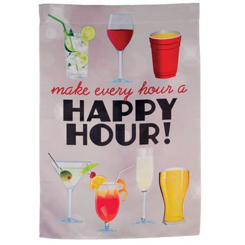 HAPPY HOUR COCKTAILS BANNER FLAG
