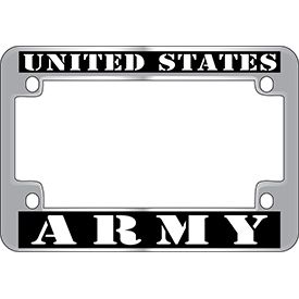 army motorcycle license plate cover aluminum cover
