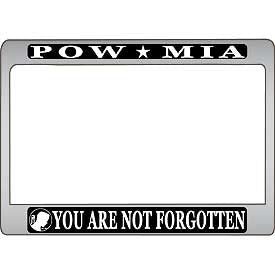 pow mia powmia motorcycle license plate cover aluminum cover