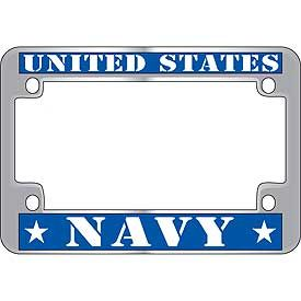 navy motorcycle license plate cover aluminum cover
