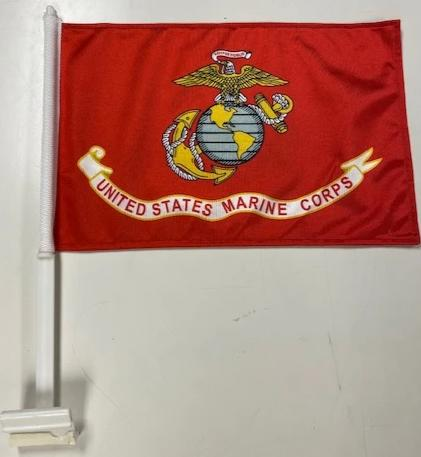 Marines Car Flag