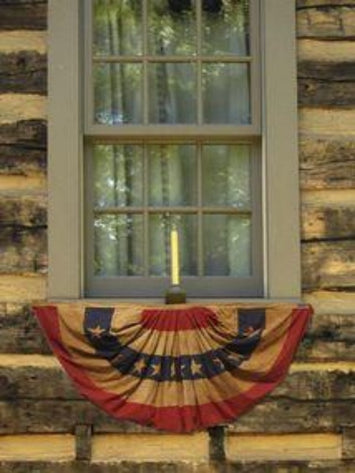 tea-stained bunting made in usa