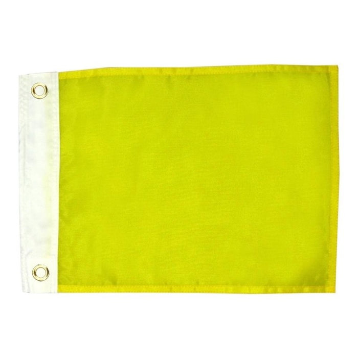 PLAIN YELLOW FLAG WITH GROMMETS