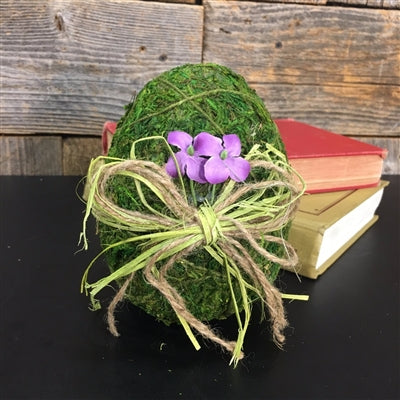 MOSS COVERED EGG WITH BOW 6