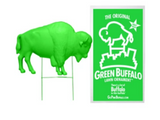 GREEN BUFFALO SHOWN WITH STAKE AND PACKAGE