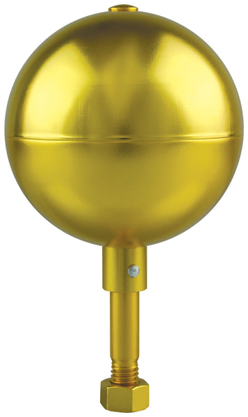 Aluminum Gold Ball for Flagpole (in ground)