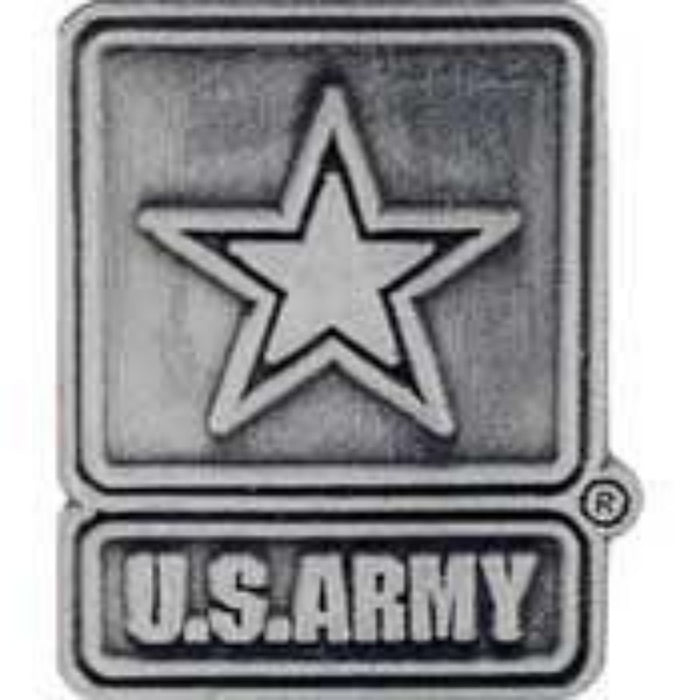 US ARMY STAR LOGO PEWTER LAPEL PIN