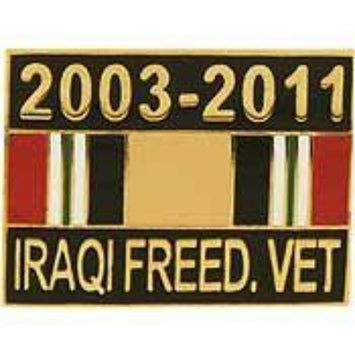 IRAQI FREEDOM VET RIBBON LAPEL PIN