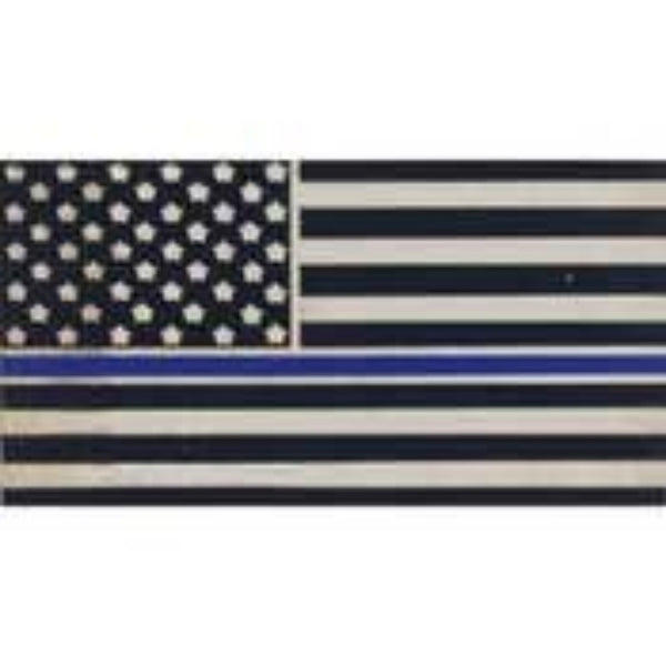 THIN BLUE LINE US FLAG LAPEL PIN