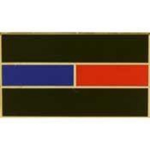 THIN RED & BLUE LINE LAPEL PIN