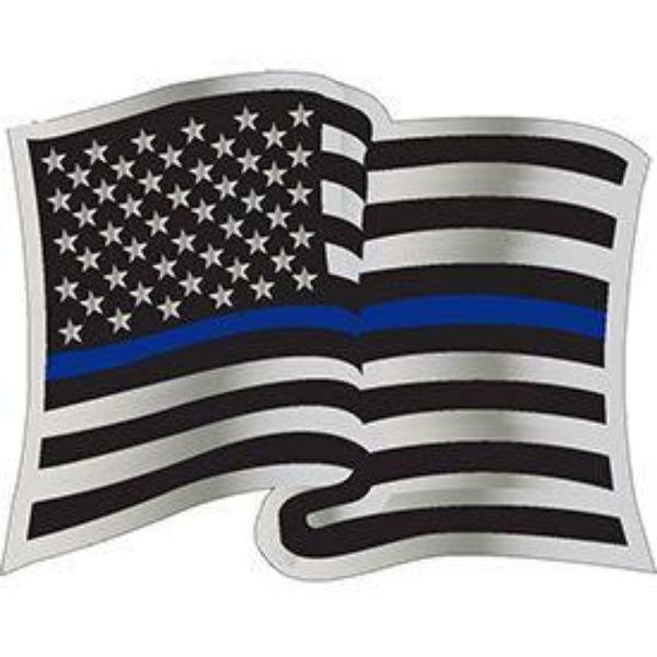 THIN BLUE LINE US WAVY FLAG LAPEL PIN
