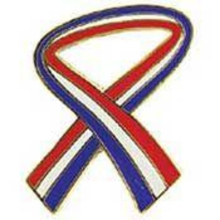 USA red, white, blue RIBBON LAPEL PIN