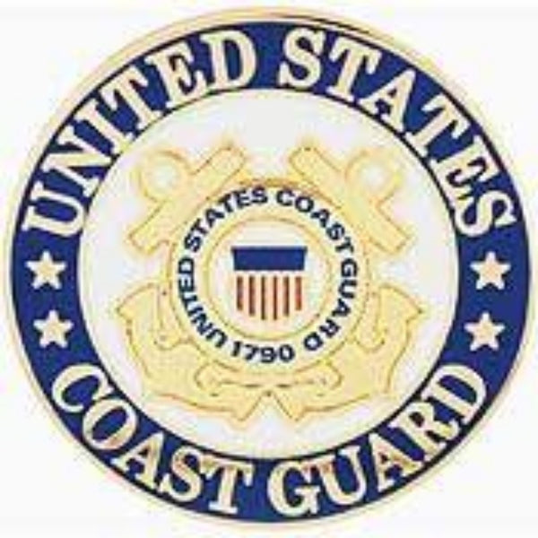 US COAST GUARD LOGO LAPEL PIN (REG)