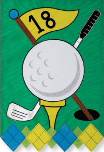 Applique Golf Garden Flag