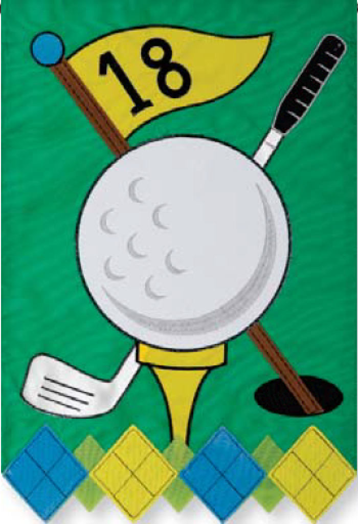 Golf Applique Garden Flag