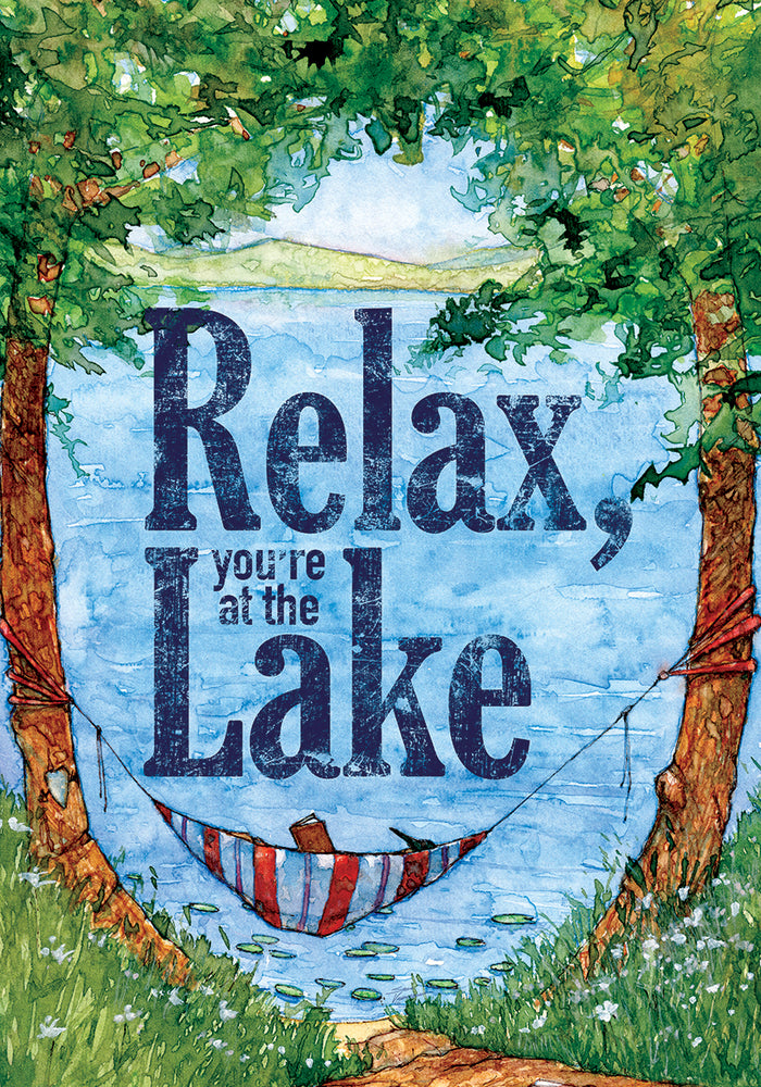 RELAX AT THE LAKE DECORATIVE BANNER
